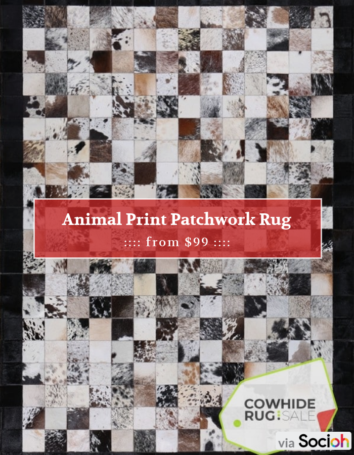 Animal Print Patchwork Rug -   Check out the entire store:   Follow us to stay updated with our latest offers!  #cowhide #cowhiderug #cowhiderugs #sale #instasale #sale #dailydeal #dealoftheday #todayonly #instadaily #mus..