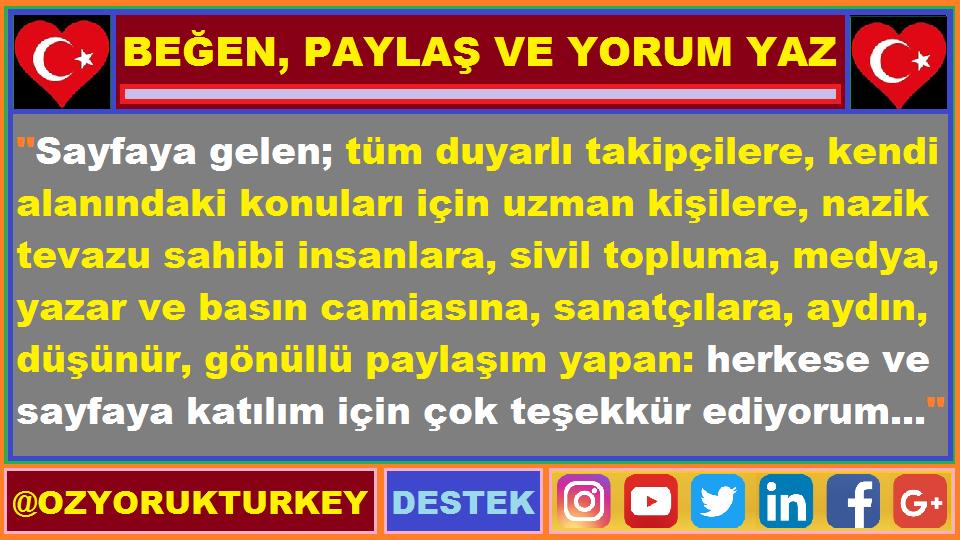 #Türkiye #Cumhuriyet #Atatürk #Emek #Takip #Sağlık #Sanat #Vatan #Kültür #Gençlik #İstihdam #İşçi #Üretim #Kadın #Gençlik #Tarım #Doğa #Canlı #Emekli #Toplum #Hak #Adalet #İnsanlık #Hukuk #Paylaş #Beğen #Yorum #Follow #Halk #Turkey #Duyarlı #Tr #Dayanışma #Like #Davet #Tc #Destek https://t.co/Yud0FFIo0L