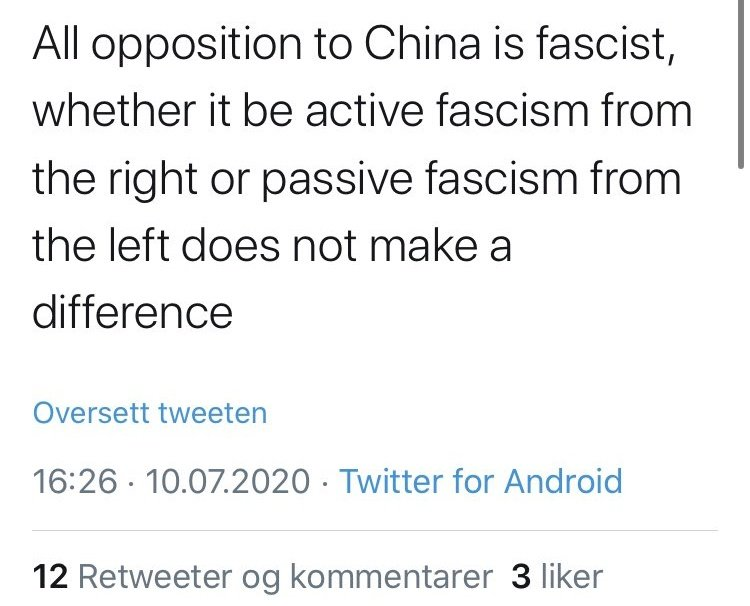 """Passive fascism from the left"" https://t.co/scaMR41v2d"