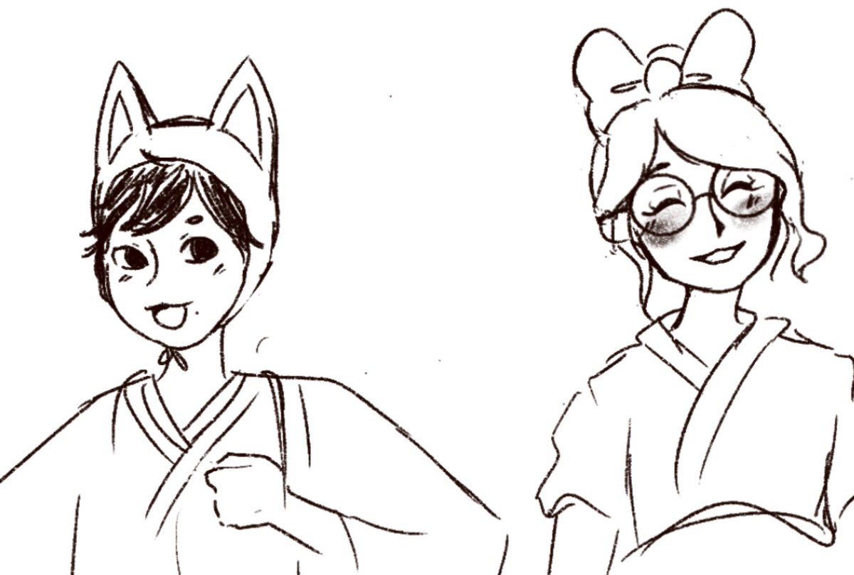 this doodle of wrens and i's animal crossing charas came out.... kinda cute tho pic.twitter.com/pVMdDsIObg