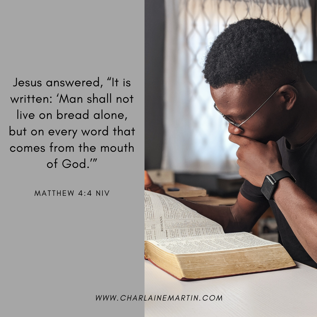 """Jesus answered, """"It is written: 'Man shall not live on bread alone, but on every word that comes from the mouth of God.'"""" Matthew 4:4 NIV #bible #faith Be Totally Fit for Life<br>http://pic.twitter.com/5U0DsnOu7v"""