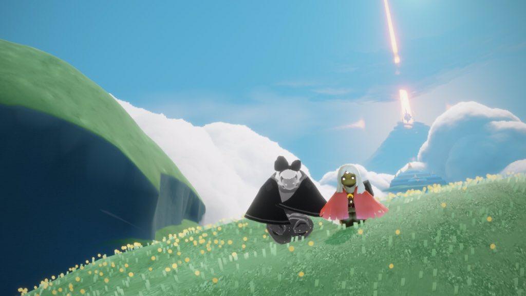 なんか、おにぎり山に星の子が立ってるなと思ったら、いとこさんでした。笑 #sky