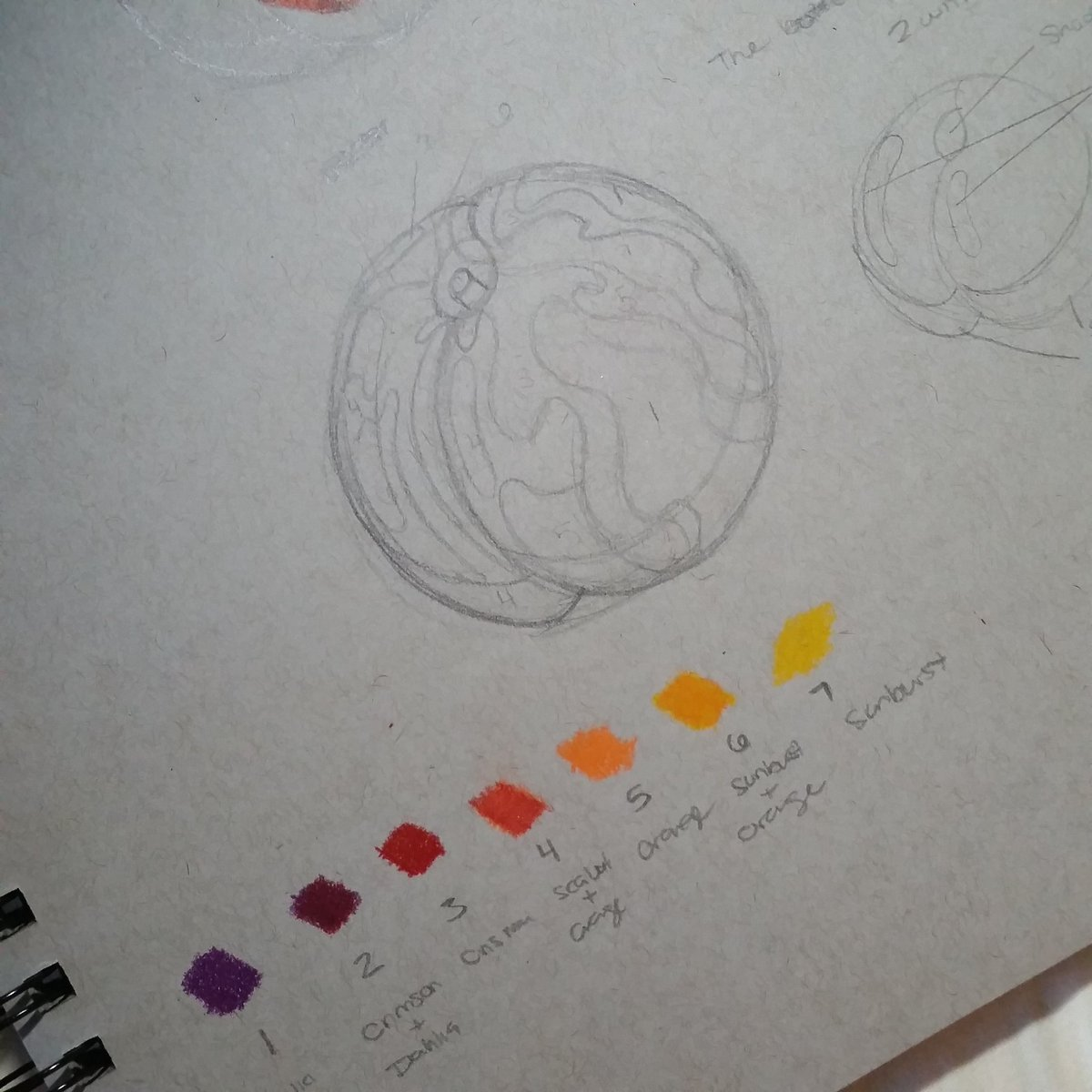 Currently mapping out where my colors are going #WIP #art #practicepic.twitter.com/3s5I4BTOdx