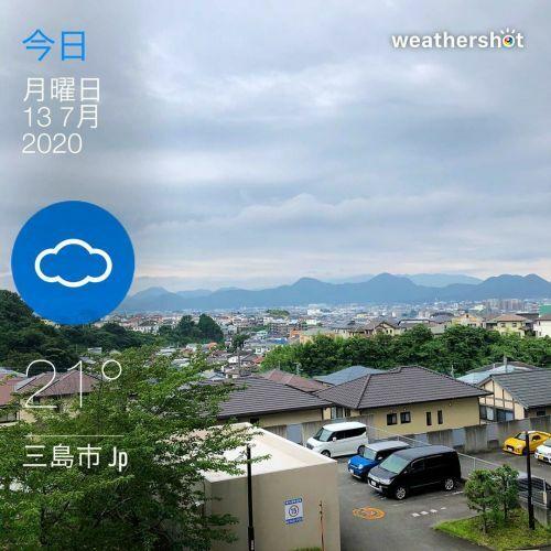 おはようございます。 曇り。7時の気温21℃。 今朝は涼しかった!長袖に着替えました。でもそれなりに蒸し暑い!   #sky ...