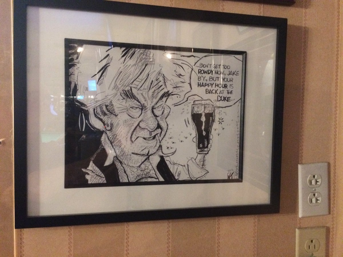Happy 90th Birthday to crime boss Maurice Becker, aka Gordon Pinsent. In 2012, I drew this editorial cartoon and had 2 prints made, one framed print hangs at the Duke of Duckworth Pub in St. John's, and the second print was requested by Gordon himself! @StJohnsTelegram https://t.co/Sn6cx1KWiK