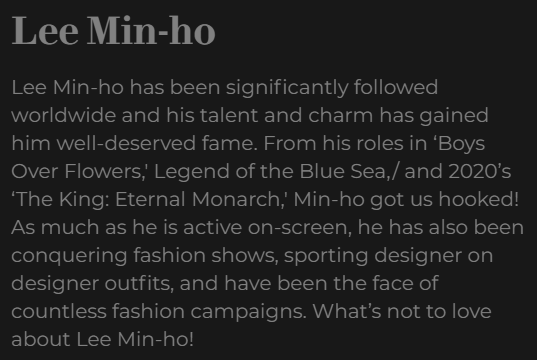 10 Most Handsome Korean Actors With The Best Fashion  Lee Min Ho https://metro.style/fashion/metrostylewatch/most-fashionable-korean-actors/26019… @ActorLeeMinHopic.twitter.com/aBbbvnQTTi