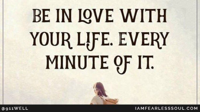 Be In love with your life.. every minute of it :)#NeverGiveUp #safety @ThisInspiresUspic.twitter.com/4ONuT8a4WX