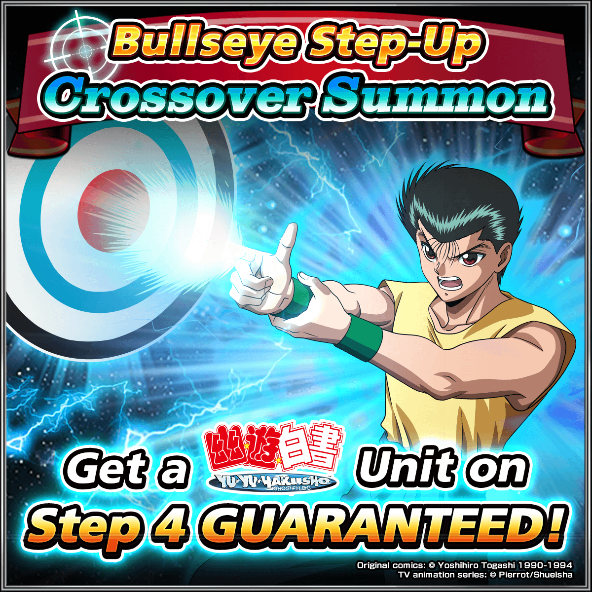 👉Yu Yu Hakusho 🎯Bullseye Step-Up Summon starts at Midnight 💥 Get a Crossover Unit on Step 4 ow.ly/CuFE50lkf5i Thank you Grand Summoners for sponsoring this post!
