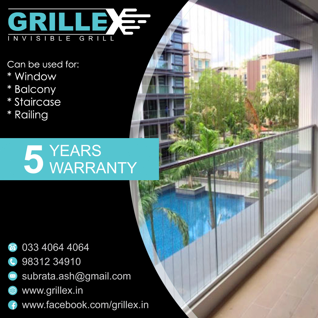 Grillex Invisible Grill ! The perfect match for your balcony, window, roof & stair ! It's #safe #secure #elegant and most importantly, it's #invisible ! Visit - https://t.co/BvRklcJdjf call: 033 40644064, 9831234910 #grillex #grillex_india #invisiblegrillkolkata https://t.co/1xgF8Zg1KB
