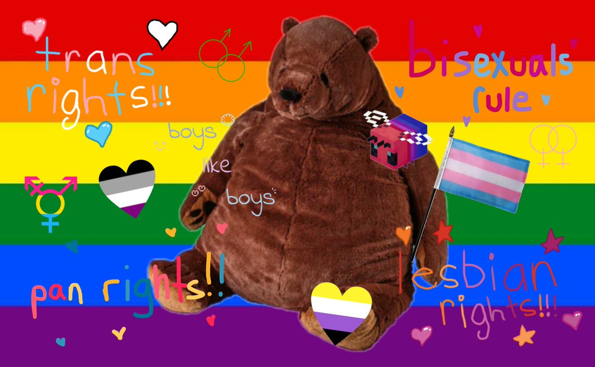 Djungelskog says LGBTQ+ rights🐻🏳️‍🌈 Djungelskog does not welcome any homophobes or transphobes here🚫 and also would like to say that you are very valid whether you are out or not. Djungelskog support and loves you in every way❤🧡💛💚💙💜🐻🏳️‍🌈 #LGBTQ #GayRights #TransRights #Pride https://t.co/GHTt158sWq
