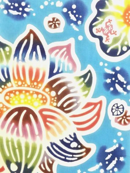 きょうの手ぬぐいはヤギセイの「蓮に蛙」 https://t.co/Xy4D9mh8tF きょうは七十二候の「蓮始開」 「はすはじめてひらく」 蓮の花が咲き始めるころ #蓮に蛙 #蓮 #蛙 #蓮始開 #七十二候 #きょうは何の日 #手ぬぐい #tenugui #きょうの手ぬぐい #紅型作家デザイン #ヤギセイ #注染 https://t.co/sdYvhcEyc9