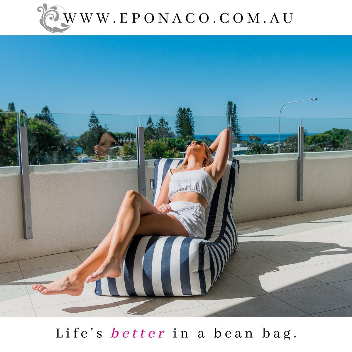 Life's better in a bean bag! #trending #beanbag #furnituredesign #designinspiration #fashion #shoppingonline #giftideas #interiordesign #outdoorliving #lifestyle #travel #comfort #relax #Eponaco #beachlife #poolparty #fun #resort #luxurylifestyle #luxuryhomes #luxurydesign https://t.co/q09ggNsbSI