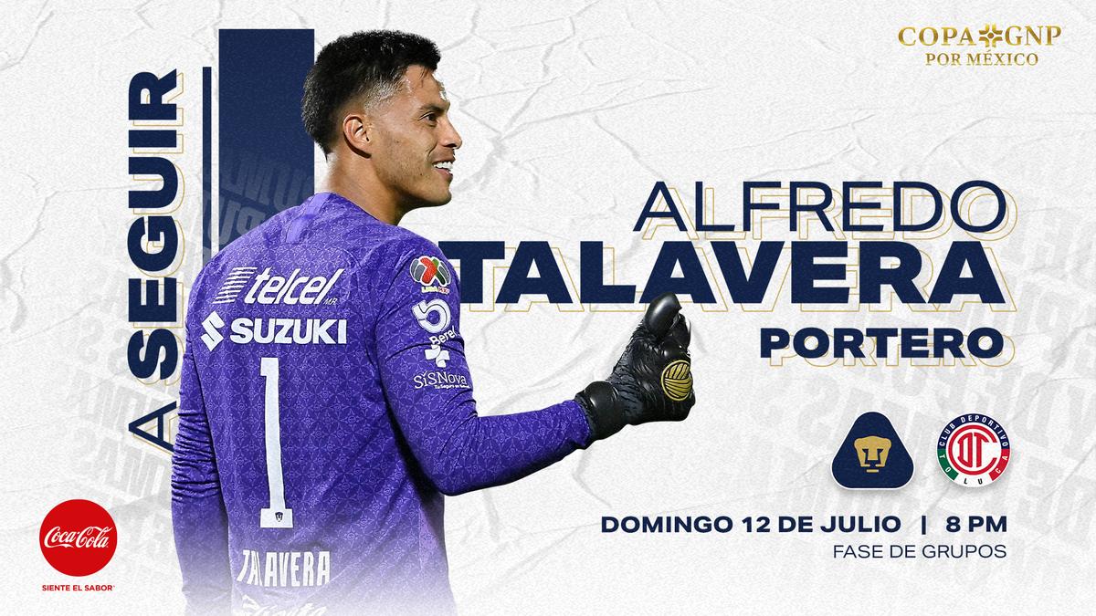 Titular por segunda vez con el uniforme de Universidad Nacional. @1AlfredoTala  es nuestro jugador a seguir esta noche.  @CocaColaMx #SoyDePumas #Volveremos https://t.co/y4X0zT6xAj