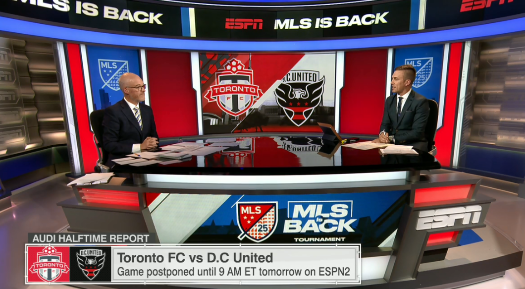 .@JonChampionJC and @TaylorTwellman discuss #TFCLive vs. #ReclaimOurReign during our @MLS halftime. 🚨 Originally scheduled for this am, that match will now be played Monday morning -9a ET on ESPN2. #MLSIsBack