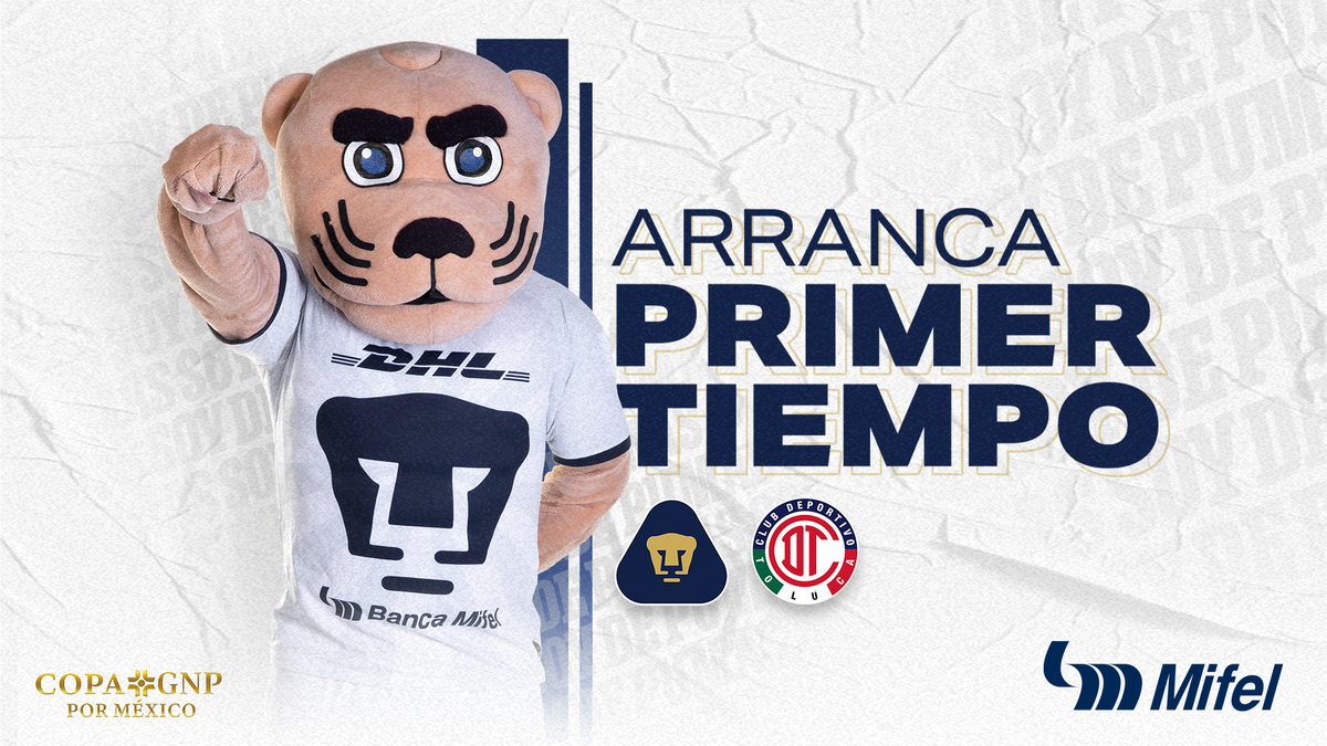 ¡Empezó el partido vs Toluca en Cd. Universitaria! ¡Vamos Auriazules!   #PumasEsMifelicidad #SoyDePumas #Volveremos https://t.co/cP6CK4zaMa