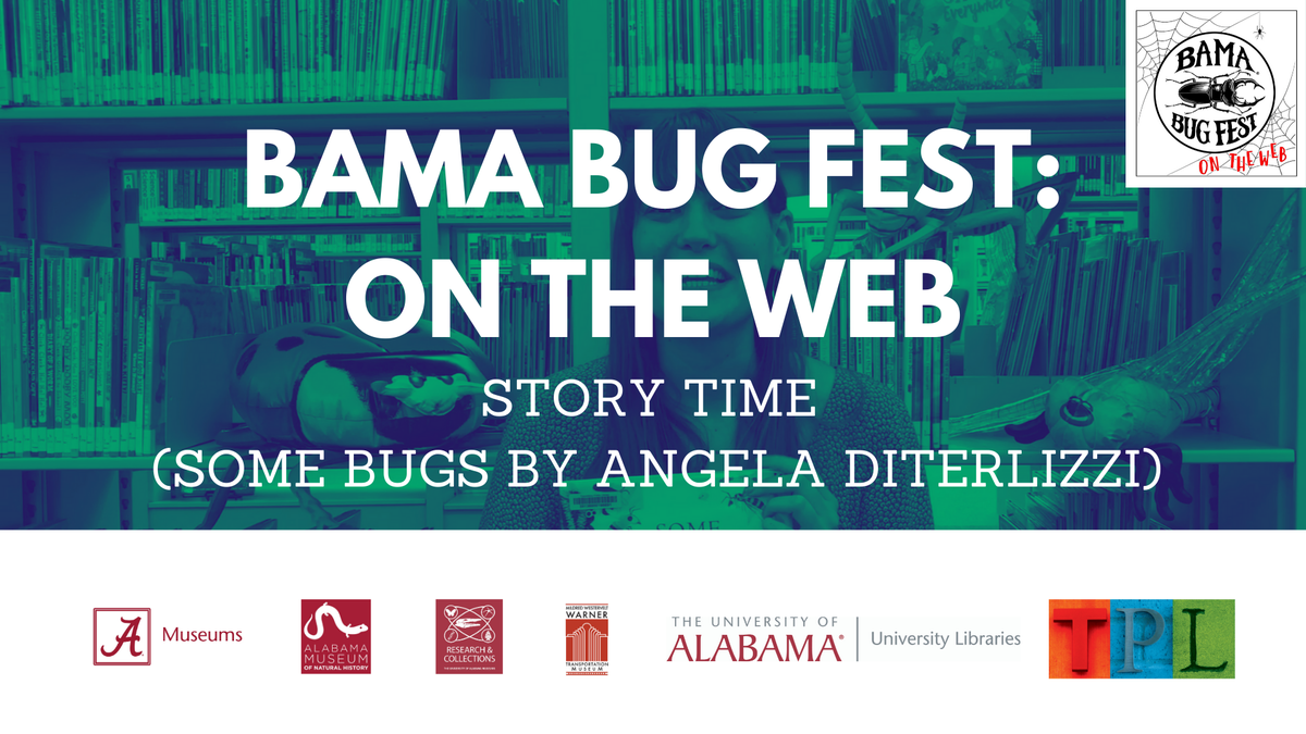 #ICYMI:  👉 Gather 'round for a story time with the @TuscaloosaBooks' Sadie Zabawa as she reads  📚 Some Bugs by Angela Diterlizzi.  🔗 : https://t.co/WZ4BG04yHr  #BamaBugFest #Book #Books #Reading #StoryTime #Tuscaloosa #Alabama #KidsBooks https://t.co/GVBN2bwcDX