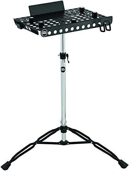 The #meinl Laptop Table Stand. Backplate keeps laptop upright. Air holes prevent heat buildup. Moveable rubber bumpers keep it stable. Has a moveable headphone hook, hook & loop security straps, & a cable routing system.  #meinlpercussion #percussion #drums #drummer #cymbals https://t.co/NRWjRJHXg8