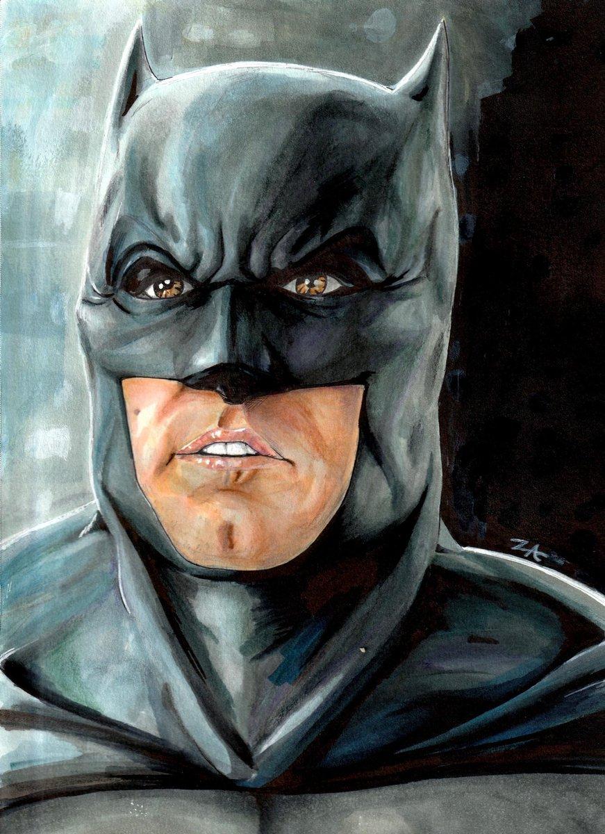 #Marker practice with #Batman.  #Batfleck #JusticeLeague #zac #art #dc #DCEU #dccomics #DCUNIVERSE https://t.co/y90IbfMMFQ