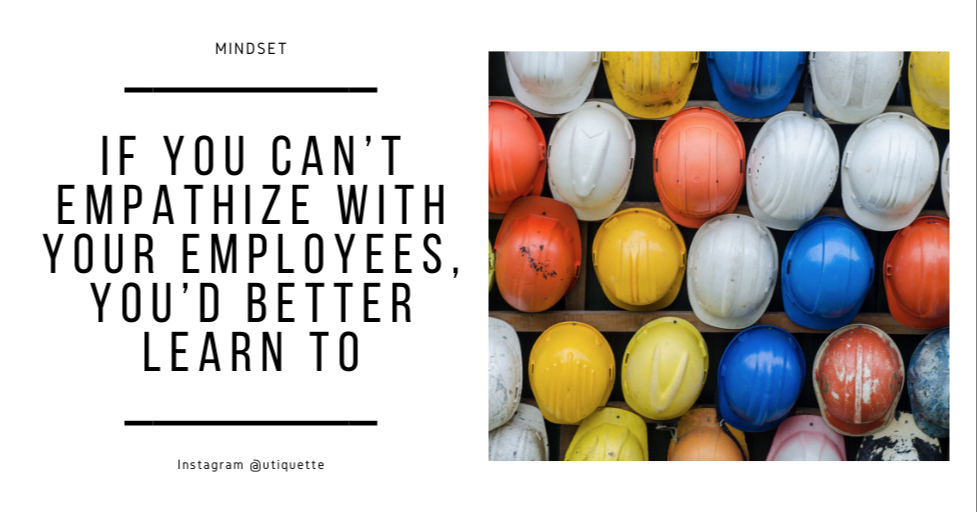 If you can't empathize with your employees, you'd better learn to. #Entrepreneur #Entrepreneurship #business #BusinessGrowth #motivational #growthhacking https://t.co/Fg9pa6iQ1j