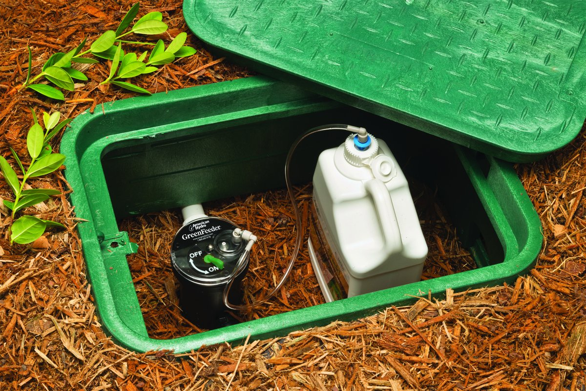 Something as inconspicuous and easy to install as the GreenFeeder System can revolutionize the way you fertilize a lawn.  Find the GreenFeeder System here: https://t.co/rV3eQgIyR5  #lawn #landscaping #Landscapes #green #gardening #irrigation #landscapers #maintenance https://t.co/LhqYrMSprd