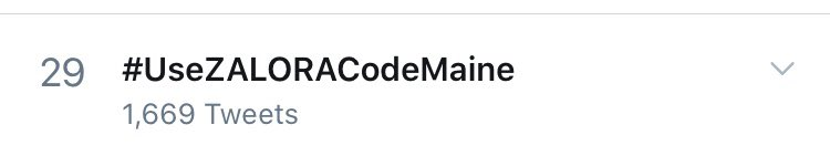Currently at 29th spot now!   #UseZALORACodeMaine  #MaineMendoza | @mainedcm https://t.co/tCgm5pDAf9