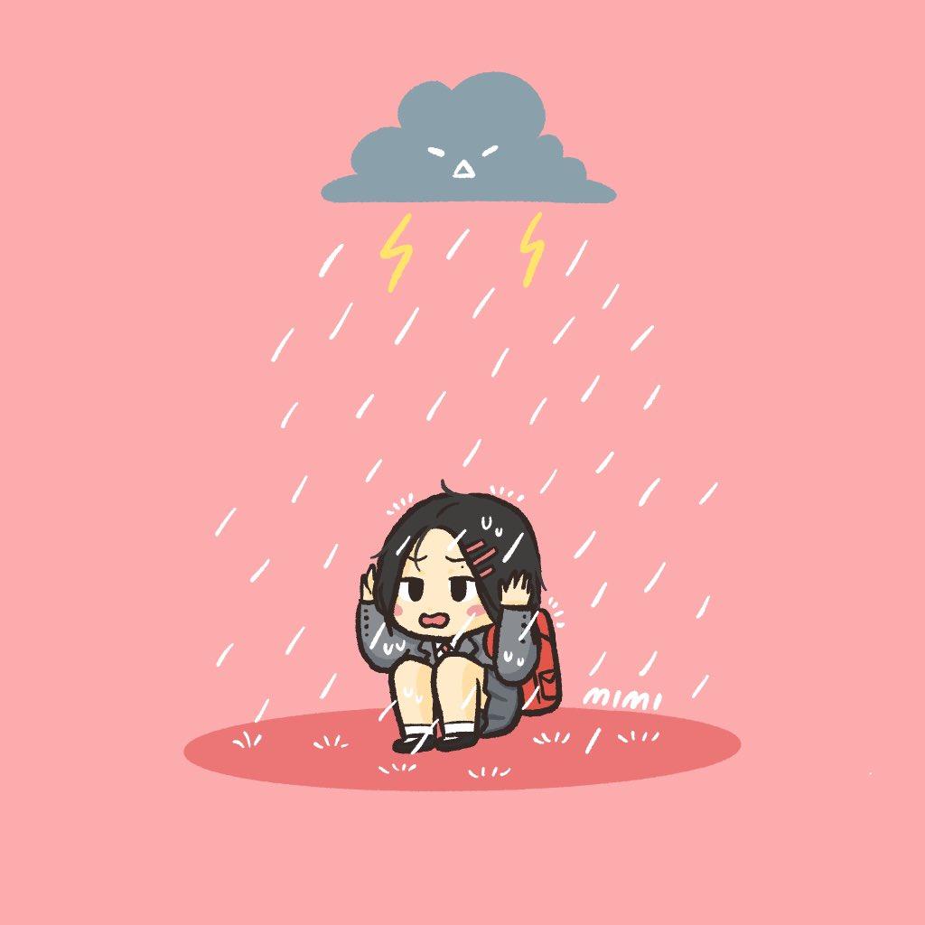 the rain isnt so bad ☔️ #JENNIE #ROSÉ @BLACKPINK