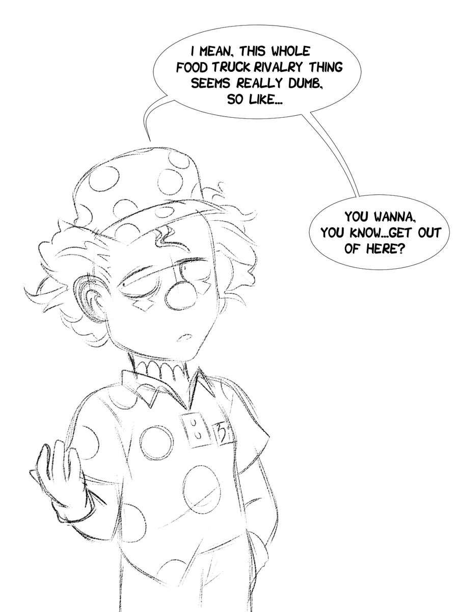 i dont have enough energy to go hard on art today but big top burger rules and @Worthikids has a really fun art style to imitate so here