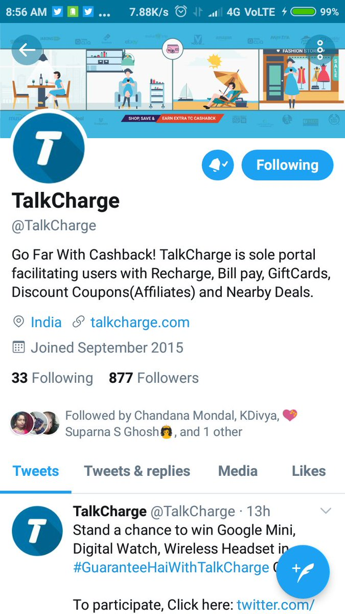 All step are done  Followed on Instagram and Twitter and also subscribed your you tube channel #GuaranteeHaiWithTalkCharge @TalkCharge Tagging  @ankitx420  @SurajJh04442956  @VinithRao19  @ImChandana01  @deora_gunjan  @mysterioussu   Here is my screenshot  pic.twitter.com/hbutE9zMfE