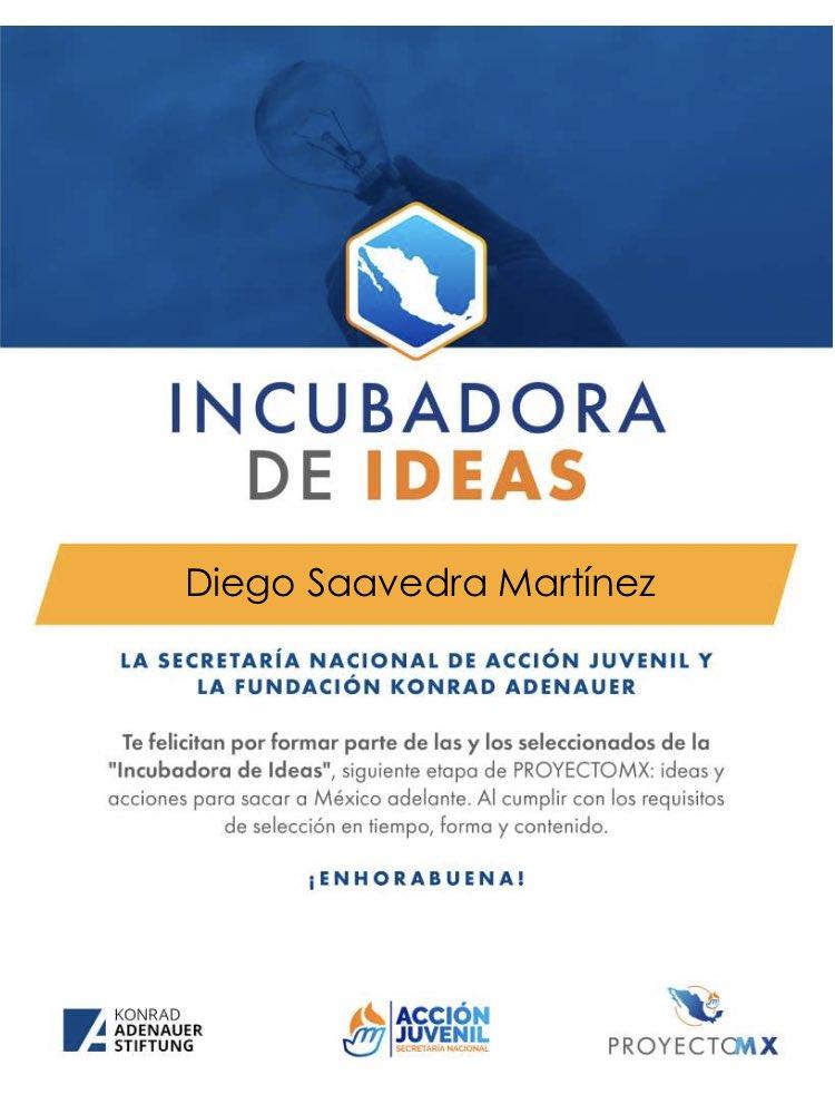 Estoy muy agradecido por formar parte de esta Incubadora de ideas 🤓💡  Seguiremos dando a la Patria Esperanza Presente   #ProyectoMX🇲🇽 @AccionJuvenil  @kasmexiko https://t.co/NTen9r0U3A https://t.co/s4j3mHPKol