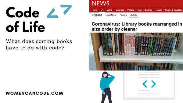 A cleaner sorts a book in size order when she gave it a deep clean due to coronavirus.  Come and here from a former library assistant and professional coder explain to you why she was right in 20 minutes at 7PM GMT+1 today.  #womencancode #womenintech https://www.meetup.com/womencancode/events/270273584/…pic.twitter.com/R8i6roGygc