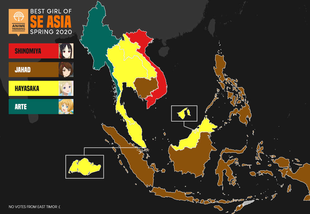 Here are the Waifus of Southeast Asia for Spring 2020! 🔥 Summer 2020 Polls Now Open: atani.me/vote