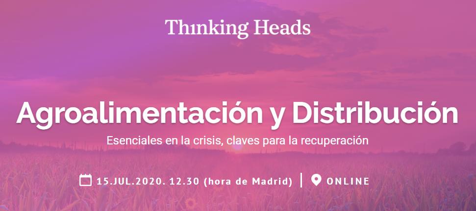 Verónica Puente, directora de Internacionalización de FIAB, participa en el webinar sobre Agroalimentación y Distribución de @ThinkingHeads  👉 Retos y demandas del sector post-Covid-19 👉 Su papel en la recuperación económica  📋 Inscríbete aquí: https://t.co/dnnY8DDsgv https://t.co/qkZ4dM9K34