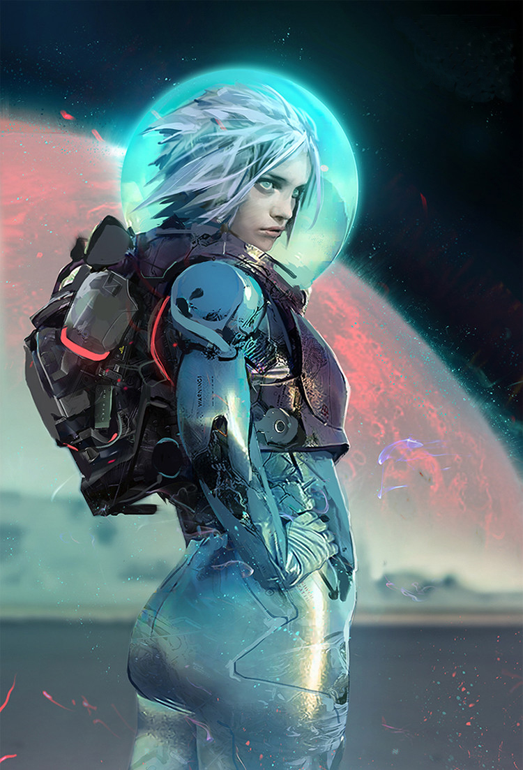 Who said Science Fiction wasn't sexy? #SciFi #Art by Ross Tran @Rossdraws Cool battlesuit. #MondayMotivation https://t.co/WiBKeG9SwB