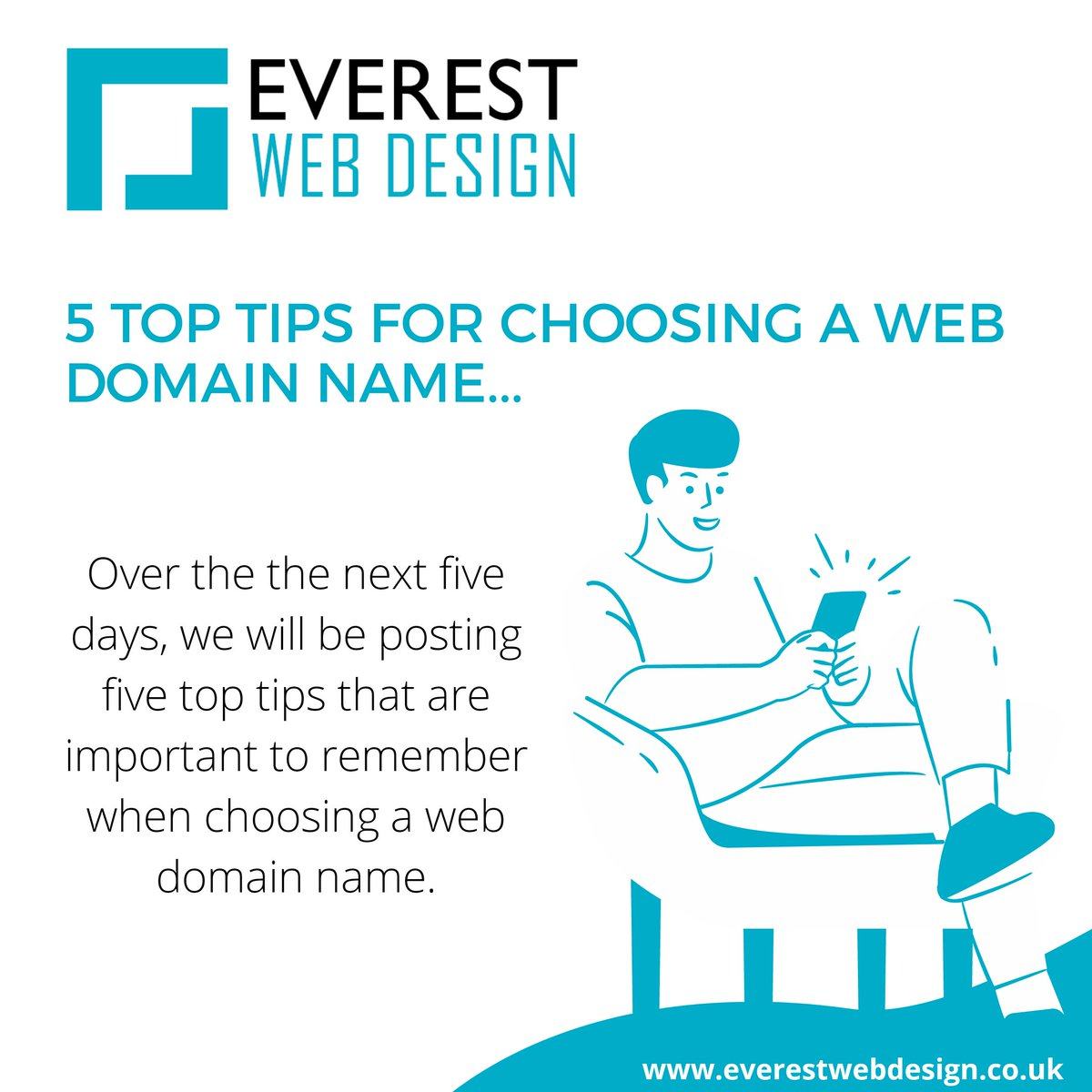 We will be sharing our 5 top tips for choosing a web domain name over the next few days! #Webdesign #WebDesigner #Toptips #Domainname #Website https://t.co/aVBQQastpS