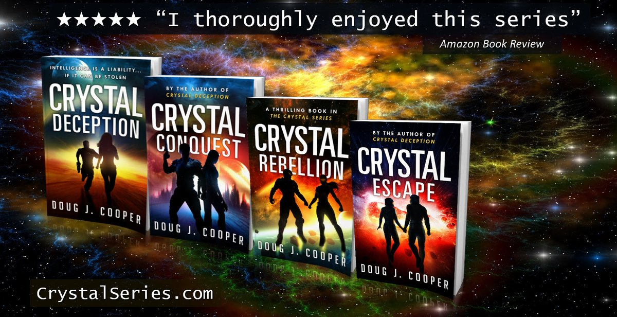 Sid snatched up his weapon and sprinted toward her. The Crystal Series – Classic sci-fi. Futuristic thrills. Start with first book CRYSTAL DECEPTION Series info: https://t.co/fBUJyfeSmb Buy link: https://t.co/UPQnnh8taL #kindleunlimited #scifi https://t.co/Z9ee6CqHYk
