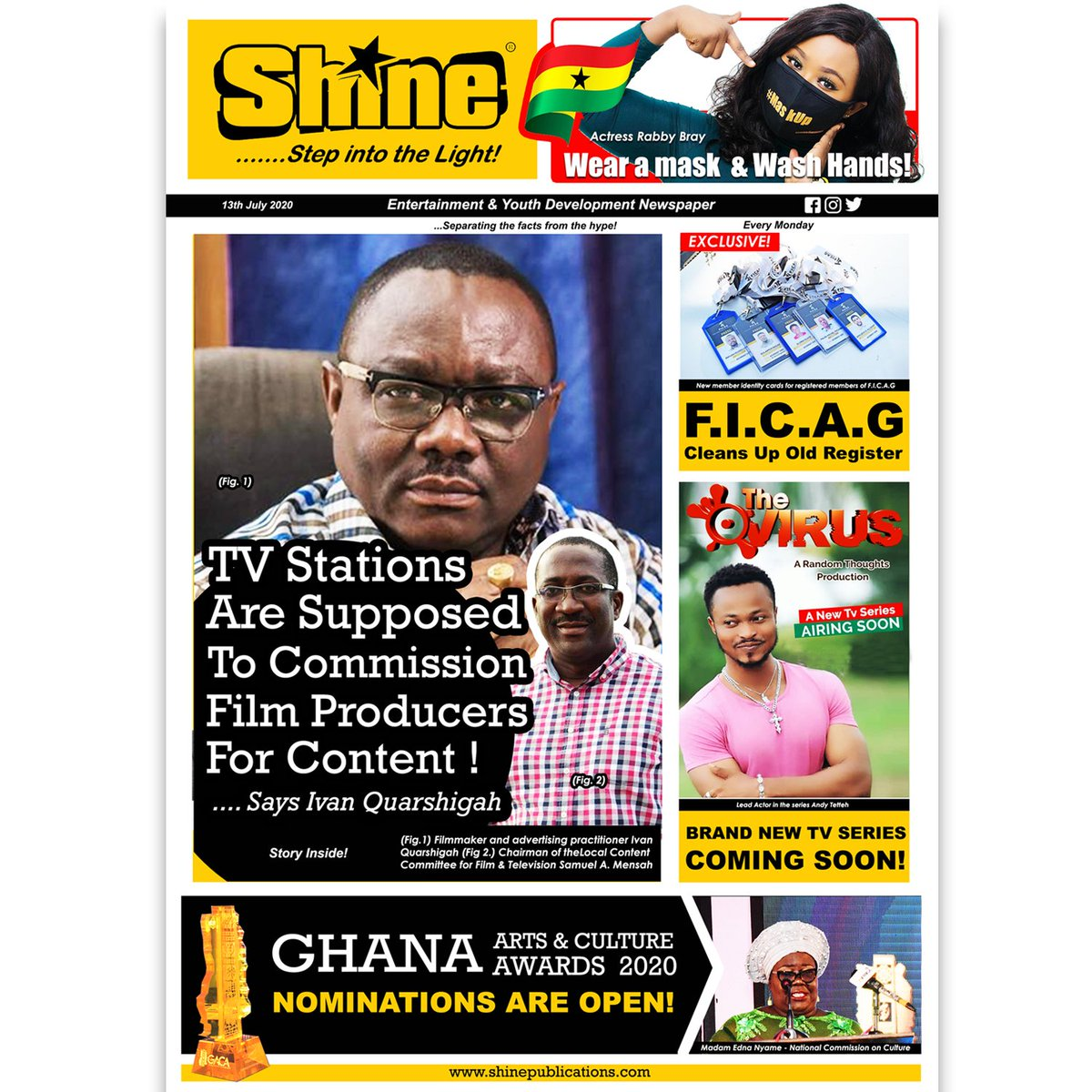 Mondays mean serious business! So, visit our website today for some serious stories!  #shinepublications #Ghana #abnghana #alcoholban #BB2020Tvi #filmmaker #creativearts #MCFC #rabbybray #wearmasks#ficag #tvstation #filmproducer  #localcontentcommittee @NAkufoAddo #Covid_19pic.twitter.com/XL6rSqGSAe