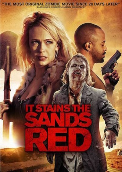 Watched this on Shudder last night & I think it's a welcome addition to the zombie genre.Clever, witty, and sometimes moving it comes from a completely different angle. However, when it goes for more straight zombie action it does it better than most #zombies #itstainsthesandsred https://t.co/csZ6C2y6eH