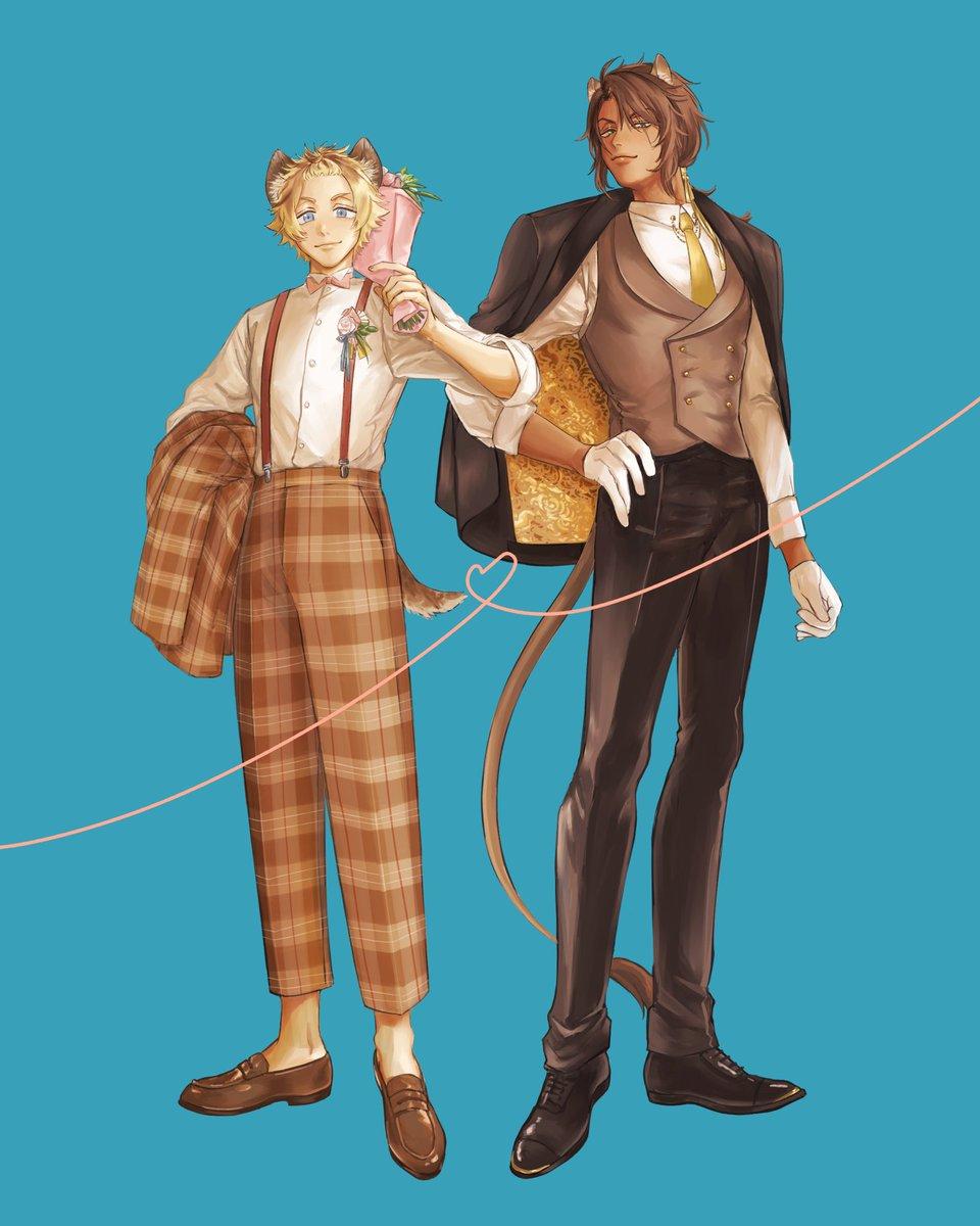 ラギレオのマリッジ衣装が見たかったから描いた