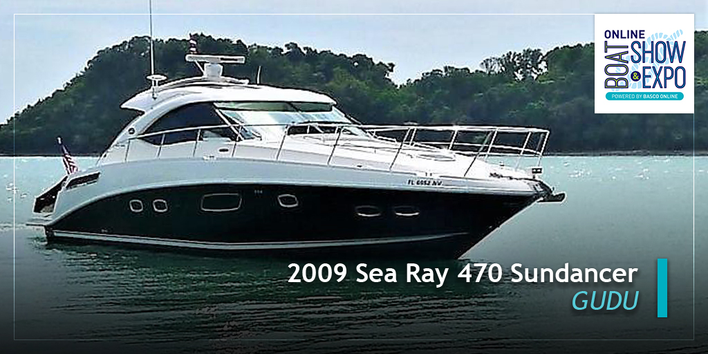 A beautiful blue hull Sea Ray 470 Sundancer with twin diesel Cummins QSB 380 engines coupled to ZEUS drives with joystick control for stress-free docking. Opening bid price* for this beauty is USD175,000. Offers are invited. | https://sbee.link/knrpgamv3b  pic.twitter.com/MV4AUI5QXH