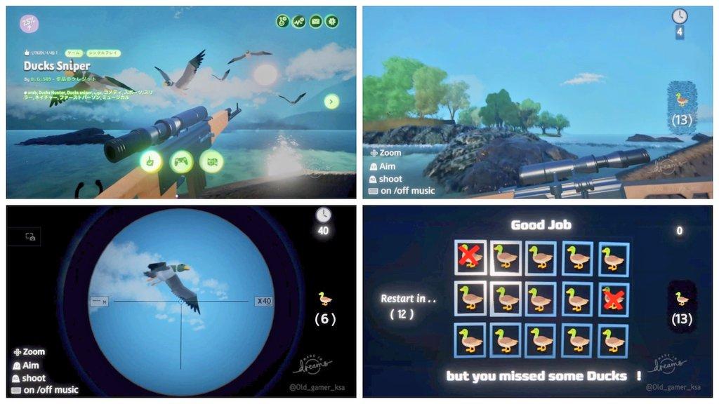 Ducks Sniper #ドリームズユニバース #PS4 #DreamsUniverse ↓YouTubeで視聴する。 https://t.co/lSXlemTiSZ https://t.co/CRGhW9jr4P