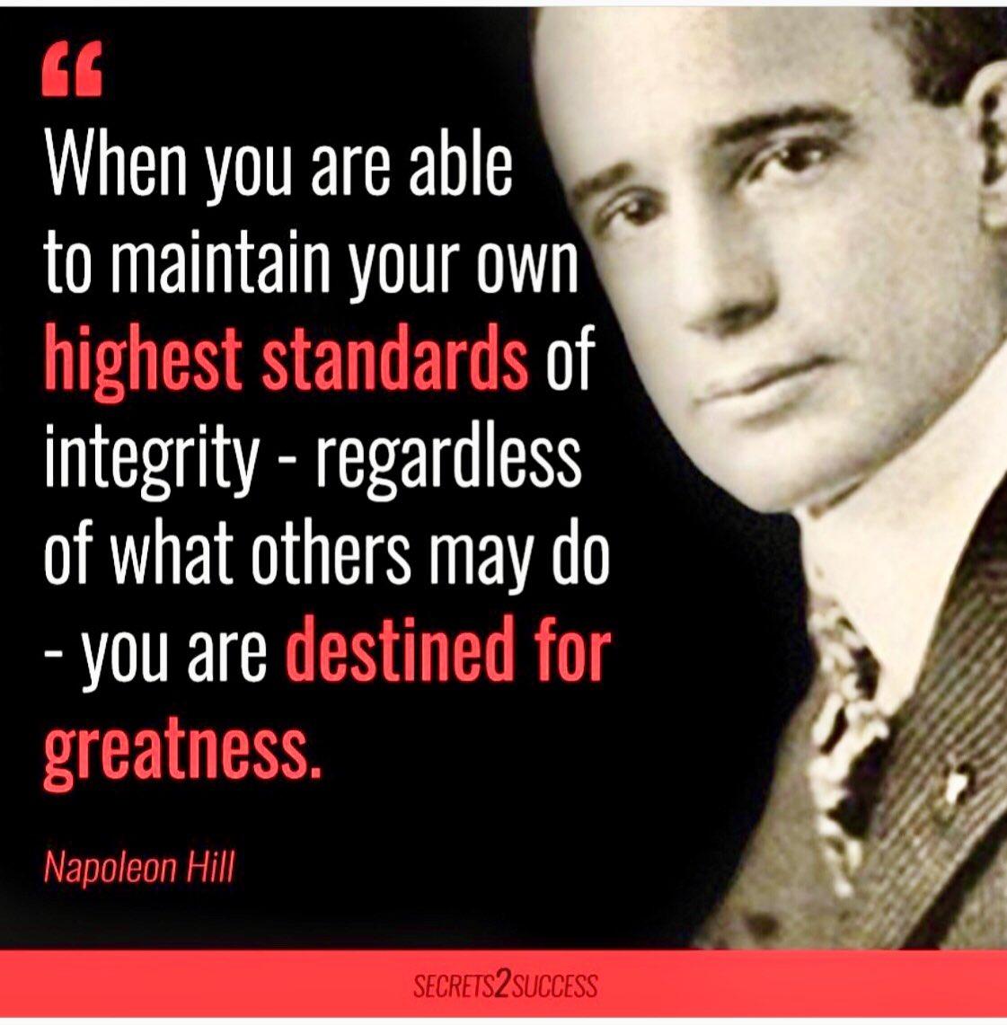 #GoodMorning #Twitterverse  #GoodWeek #enterprise #business #standards #greatness #NapoleonHill pic.twitter.com/nV54DBRTSL