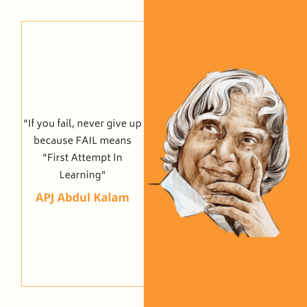"Monday Motivation  ""If you fail, never give up because FAIL means ""First Attempt In Learning""- By APJ Abdul Kalam  #abdulkalam #apj #apjabdulkalam #abdulkalamquotes #quotes #india #motivation #inspiration #sayingsandquotes #MondayMotivation #MondayMood #MondayMorningpic.twitter.com/9BGY2h8A1q"