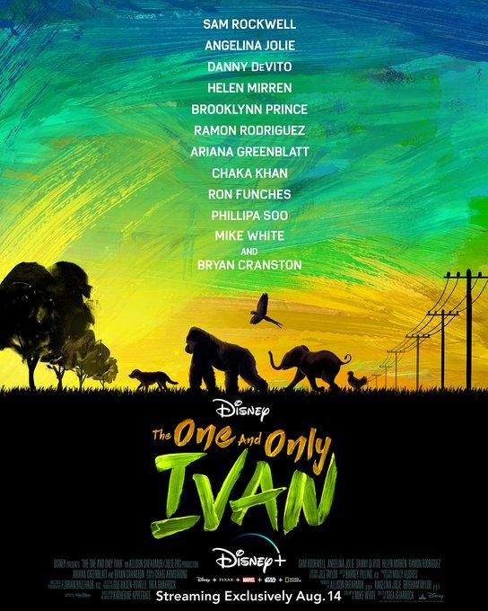 14 Ağustos'ta Disney+'ta yayına girecek #TheOneAndOnlyIvan'dan ilk poster geldi.pic.twitter.com/t8QXpXrdKK