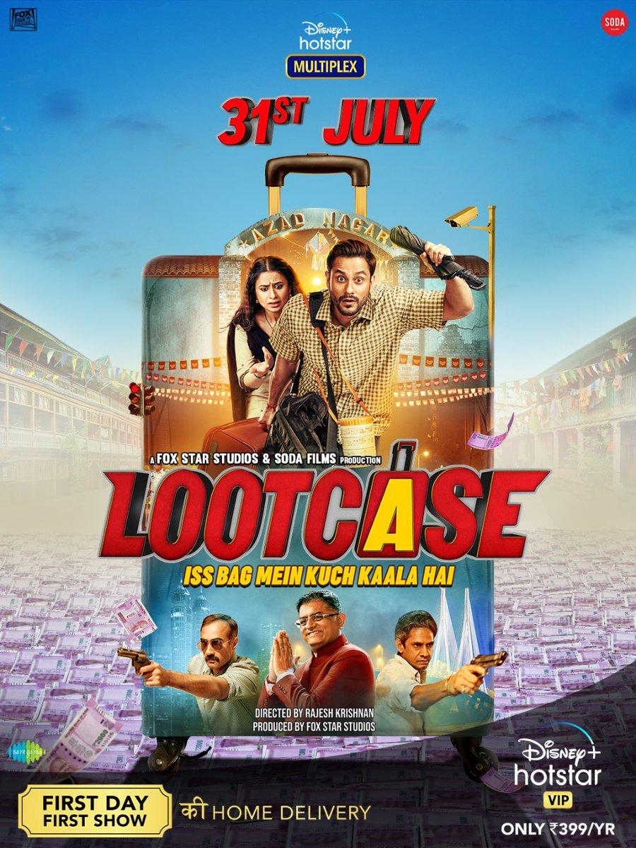 Ab aap hi iss laal suitcase ka samadhaan kar sakte hai! Dekhiye #Lootcase 31st July ko sirf aapke ghar!   @kunalkemmu @RasikaDugal @RanvirShorey #VijayRaaz @rajoosworld @foxstarhindi @DisneyplusHSVIP #SodaFilmsIndia @saregamaglobal