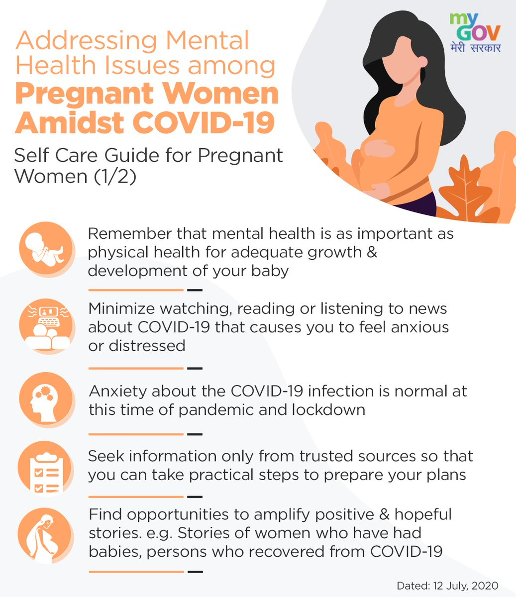 Take a look at the Self Care guide for Pregnant Women amidst COVID-19. #IndiaFightsCorona https://t.co/4cdzztQvTI