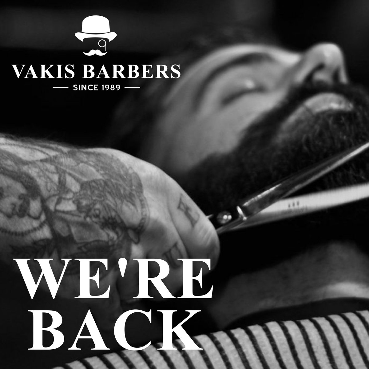 #Vakisbarbers is back! 02088748044 07385265489 133 Wandsworth High Street SW18 4JB Welcome back and see you soon #vakis #vakisbarbers #wandsworthbarbers #barbers #haircut #wetshave #shoplocal #londonbarbers #keepthingslocal #wandsworthlocals #wandsworthpic.twitter.com/WrihYfQnHJ