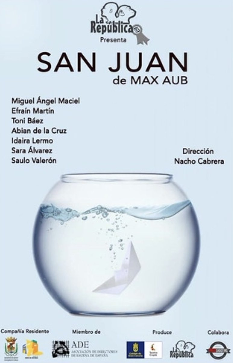 "#LaRepúblicaTeatro anuncia el próximo estreno de ""San Juan"" #teatro #cultura #Aguimes #Agüimes  https://t.co/1HtupNEXNm https://t.co/zvh39jfmG3"