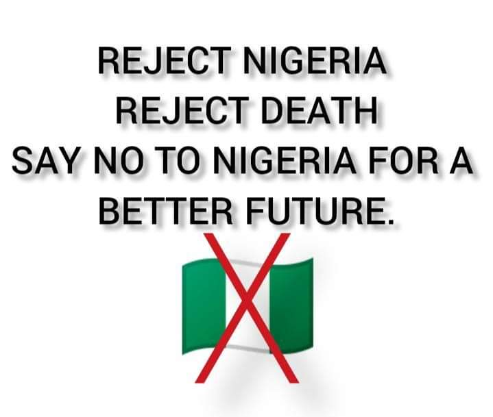 Reject Nigeria because is a place of unlucky ill-omened uncleaned thing to human especially Biafrans IPOB family and Christians, killing is much in Nigga-aria @realDonaldTrump @netanyahu @netanyahu @UN @BorisJohnson @MarereJustice @Amaka_Ekwo reject Nigeria for a better future <br>http://pic.twitter.com/cKJQL9P7BO