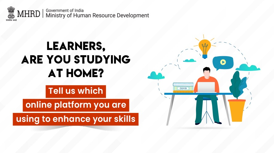 Learners, to ensure that #COVID19 doesn't stop you from gaining new skills MHRD is providing a variety of e-learning platforms like DIKSHA, @swayammhrd, @NDLIndia, etc.  Have you started using them? Tell us your favourite e-learning platform in the comments. https://t.co/EedBOAmtGr