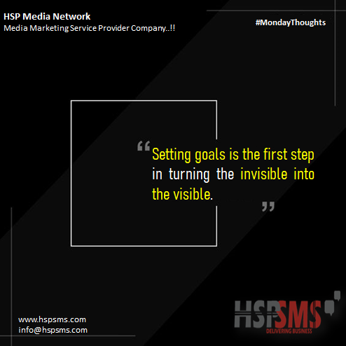 HSP Media Network (Media Marketing Service Provider Company) https://t.co/fNOwFsXFIb  #mondayvibes #mondaythoughts #marketingthoughts #thoughtsoftheDay #marketing #monday #mondaymotivational #bulksms #smsmarketing #marketingquotes #setting #goals #invisible #visible https://t.co/DkIDDgUb08